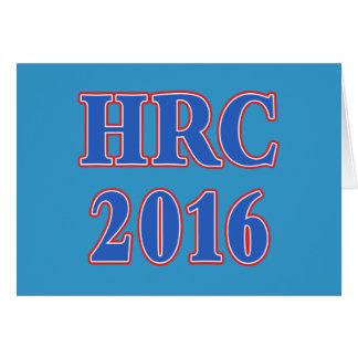 Hillary Rodham Clinton 2016 Tarjeta