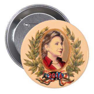 Hillary Rodham Clinton para el presidente 2016 Pin Redondo 7 Cm