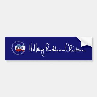 Hillary Rodham Clinton Signature Bumper Sticker