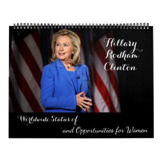 Hillary Rodham Clinton Worldwide Status of Women Calendar