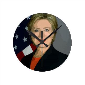 Hillary Round Clock