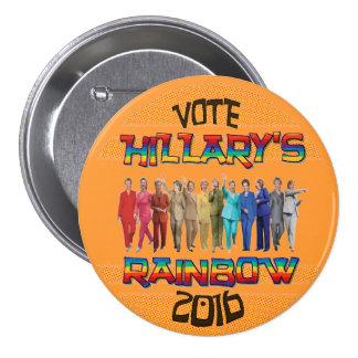 Hillary s Rainbow 2016 Button