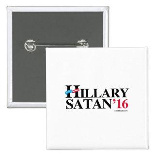 Hillary Satan 2016 Pin Cuadrada 5 Cm