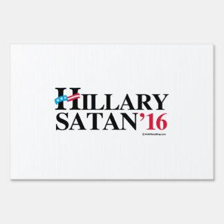 Hillary Satan 2016 Sign