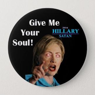 Hillary Satan Button
