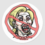Hillary Satin Anti-Hillary Sticker