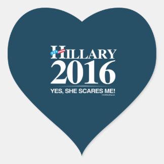 Hillary Scares me - Anti Hillary Heart Sticker