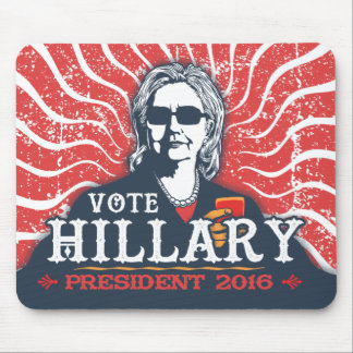 Hillary Shades Mouse Pad