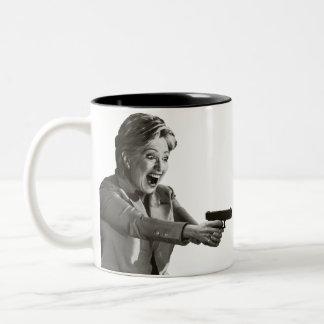 Hillary Shooter Two-Tone Coffee Mug