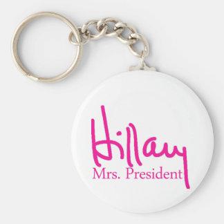 Hillary signature collection basic round button keychain