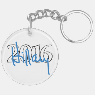 Hillary signature collection Double-Sided round acrylic keychain