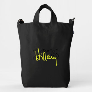 Hillary signature collection duck canvas bag