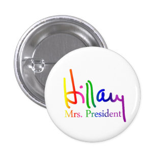 Hillary signature collection pinback button
