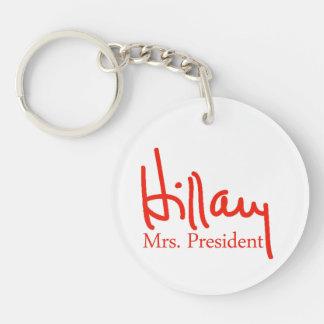 Hillary signature collection Single-Sided round acrylic keychain