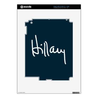 Hillary Signature Decals For iPad 2