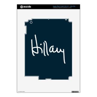 Hillary Signature Decals For iPad 3