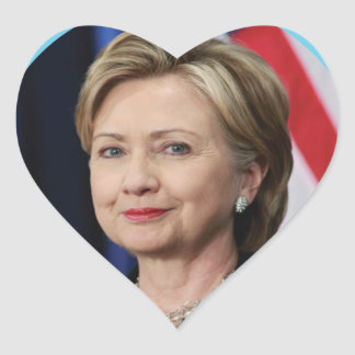 hillary heart sticker