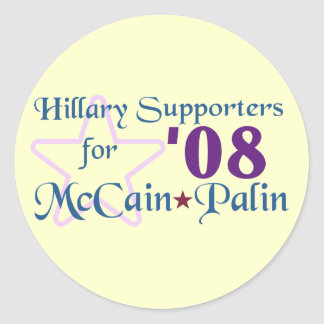 Hillary Supporters for McCain Palin '08 Sticker