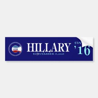 Hillary Sweet 16 Car Bumper Sticker
