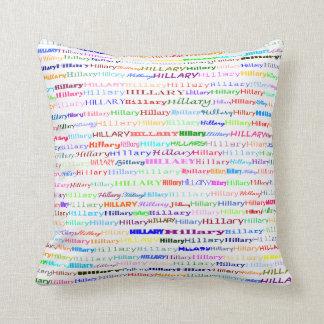 Hillary Text Design II Throw Pillow
