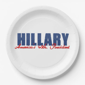Hillary The 45th. President Paper Plate