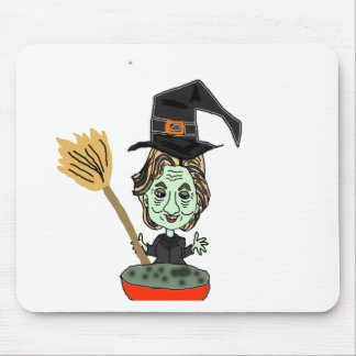 Hillary the Email Witch Mouse Pad