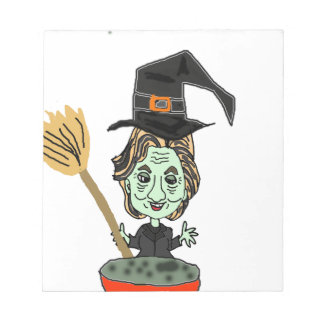 Hillary the Email Witch Notepad