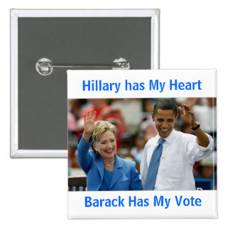 Hillary tiene mi corazón, Barack tiene mi botón de