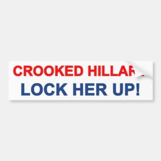 Hillary torcida la cierra para arriba pegatina para auto