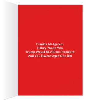 Hillary & Trump Politically Correct Birthday Card