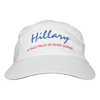 """""""Hillary. Un camión del Taco en cada de la esquina Gorra De Alto Rendimiento"""