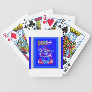 Hillary USA President Stronger Together spirit Bicycle Playing Cards