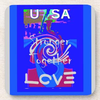 Hillary USA President Stronger Together spirit Coaster