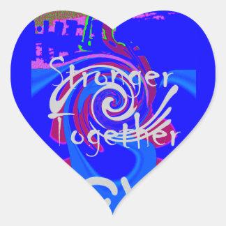 Hillary USA President Stronger Together spirit Heart Sticker