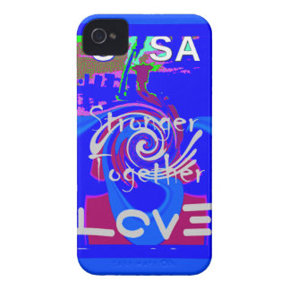 Hillary USA President Stronger Together spirit iPhone 4 Case-Mate Case