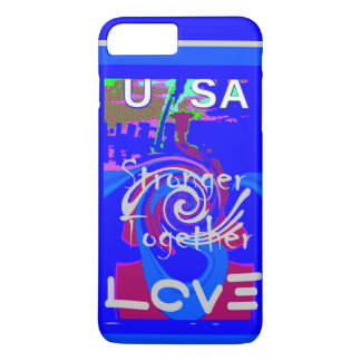 Hillary USA President Stronger Together spirit iPhone 8 Plus/7 Plus Case