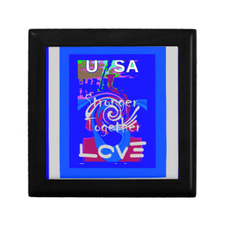Hillary USA President Stronger Together spirit Jewelry Box
