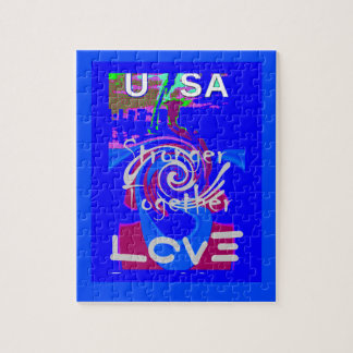 Hillary USA President Stronger Together spirit Jigsaw Puzzle
