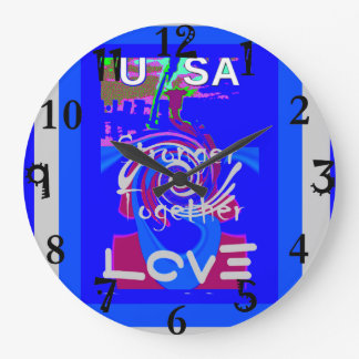 Hillary USA President Stronger Together spirit Large Clock