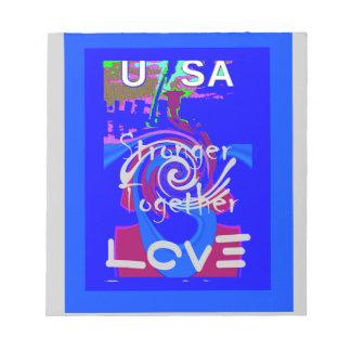 Hillary USA President Stronger Together spirit Notepad