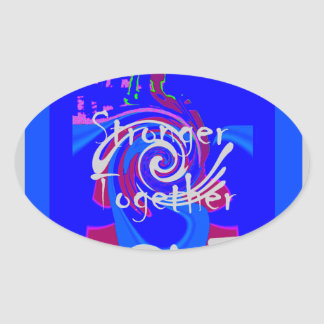 Hillary USA President Stronger Together spirit Oval Sticker