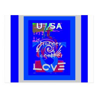 Hillary USA President Stronger Together spirit Postcard