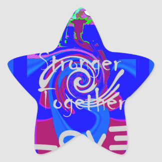 Hillary USA President Stronger Together spirit Star Sticker