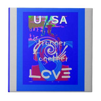 Hillary USA President Stronger Together spirit Tile