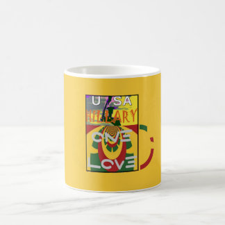 Hillary USA  Stronger Together Vote One Love For H Coffee Mug