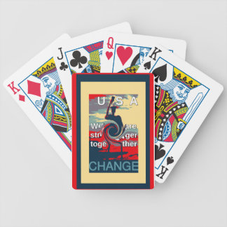 Hillary USA we are stronger together Bicycle Playing Cards