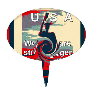 Hillary USA we are stronger together Cake Topper