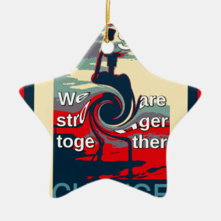 Hillary USA we are stronger together Ceramic Ornament