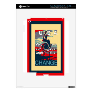 Hillary USA we are stronger together Decals For iPad 3