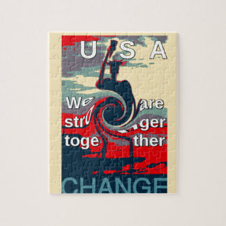 Hillary USA we are stronger together Jigsaw Puzzle